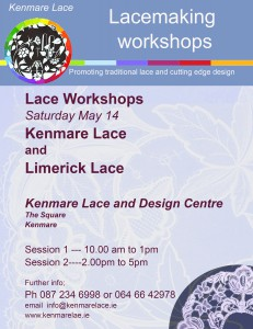 Next lacemaking workshop on Saturday next May 14