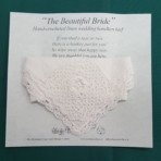 Irish linen and hand made Irish crochet lace wedding hankey,(Rose) (Duplicate)