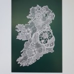 Kenmare Lace Map of Ireland print by Sinead Hennessy